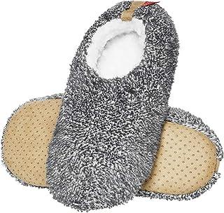 soxo Pantoufles Homme Fourrure | Taille 41-46 | Chausson Confortable Peluche d'intérieur| Semelle élastique Antidérapante...