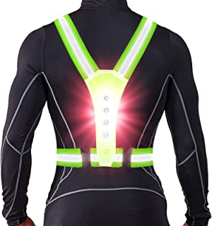LED Reflective Running Vest, High Visibility Warning...