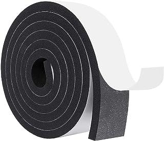 فوم عایق بندی ، نوار آب و هوای خود چسب برای درب ها و ویندوز عایق صوتی نوار مهر و موم فوم سلول بسته 2 اینچ عرض X 3/8 اینچ ضخیم X 6.5 پا بلند (6.5 فوت x 1 رول)