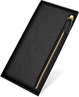 Apsung Women Wallet Wrist Wallet,Ultra Slim Cell Phone Wallet,Blocking Wallet Leather Zip Wallets, Wallets for Women