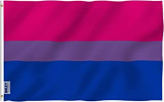 ANLEY [Fly Breeze] 3x5 Foot Bi Pride Flag - Vivid Color and UV Fade Resistant - Canvas Header and Double Stitched - Bisexu...