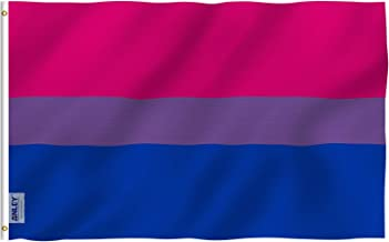 Anley Fly Breeze 3x5 Foot Bi Pride Flag - Vivid Color and UV Fade Resistant - Canvas Header and Double Stitched - Bisexual Flags Polyester with Brass Grommets 3 X 5 Ft