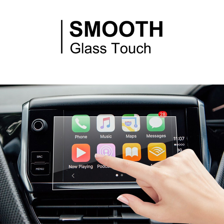 LFOTPP Peugeot 208 2008 7 pulgadas Navegación Protector de pantalla - 9H Cristal Vidrio Templado GPS Navi película protegida Glass: Amazon.es: Electrónica