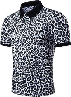 EUYOO Maglietta Uomo Manica Corta Casual Divertenti Stampa di Aquila T-Shirt Uomo Sportivi Vintage Cotone Stretch Maglione Tumblr Estiva Camicie Top