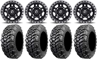 9 Items STI HD6 14 Wheels Machined 30 Carnivore Tires 4x137 Bolt Pattern 10mmx1.25 Lug Kit Bundle