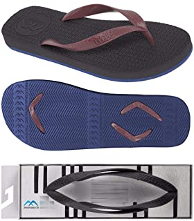 Boomerangz Regular Fit Flip Flops (Men's) Colour: Black/Navy + Interchangeable Straps (Additional) [Combo Offer]