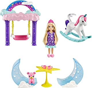 Barbie Dreamtopia Chelsea Princess Doll & Fairytale Sleepover Playset