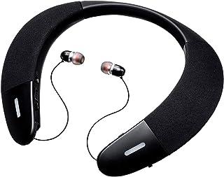 サンワダイレクト ネックスピーカー イヤホンモード搭載 apt-X LL/apt-X HD対応 Bluetooth5.0 通話対応 400-BTSH015