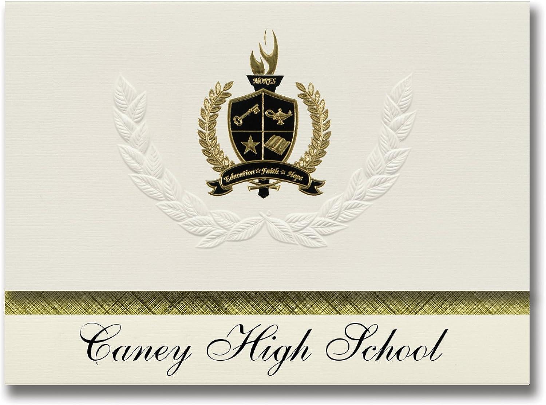 Signature Ankündigungen Caney – High School (Caney (Caney (Caney –, OK) Graduation Ankündigungen, Presidential Stil, Elite Paket 25 Stück mit Gold & Schwarz Metallic Folie Dichtung B078WFZCR3    | ein guter Ruf in der Welt  2a6e28