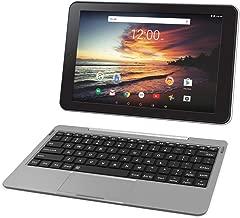 RCA Viking Pro 32GB Quad Core 10.1'' Hdmi Bluetooth WiFi Detachable Keyboard Android 6.0 (Silver)