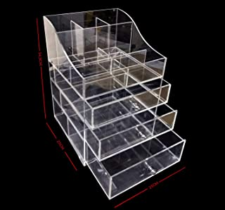Design Bottom Layer Increase Fits Most Conceal Acrylic Makeup Organizer and Cosmetic Make Up Organizer Countertop Storage ...