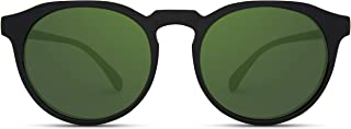 WearMe Pro - Retro Round Flat Top Frame Mirrored Fashion Sunglasses