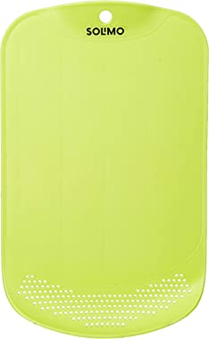 Amazon Brand - Solimo Plastic Chopping Board with Drainer
