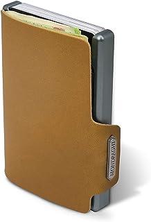 """Mondraghi® Portafoglio THE ORIGINAL caramel   Protezione RFID integrata nella clip portabanconote""""Stop and Go""""   Scocca in..."""