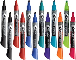 Quartet Dry Erase Markers, Whiteboard Markers, Chisel Tip, EnduraGlide, BOLD COLOR, Assorted Colors, 12 Pack (5001-20MA)