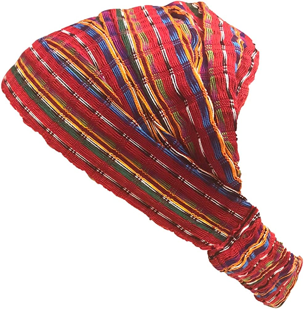 Inspirit Arts Large Size Extra Loose Headband Handwoven No-Slip Red
