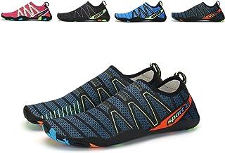 3c7f82c045973d Maniamixx Water Shoes for Men Women Barefoot Aqua Shoes Quick-Dry Summer  Shoes for Beach