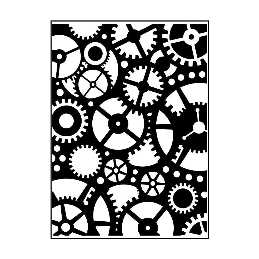 Carabelle Studio Embossing Folder-Template Cogwheel Gear Inner Workings, 10.8 x 14.6 x 0.11 cm