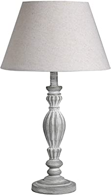 Hill 1975 Lampe de Table en Bois Beige/Blanc/Gris Clair Taille Unique