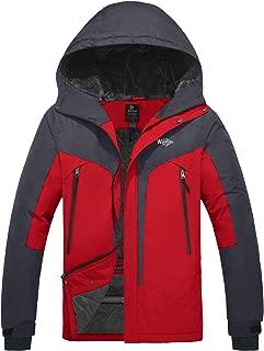 Wantdo Men's Windproof Ski Fleece Jacket Waterproof Parka Insulated Winter Coat