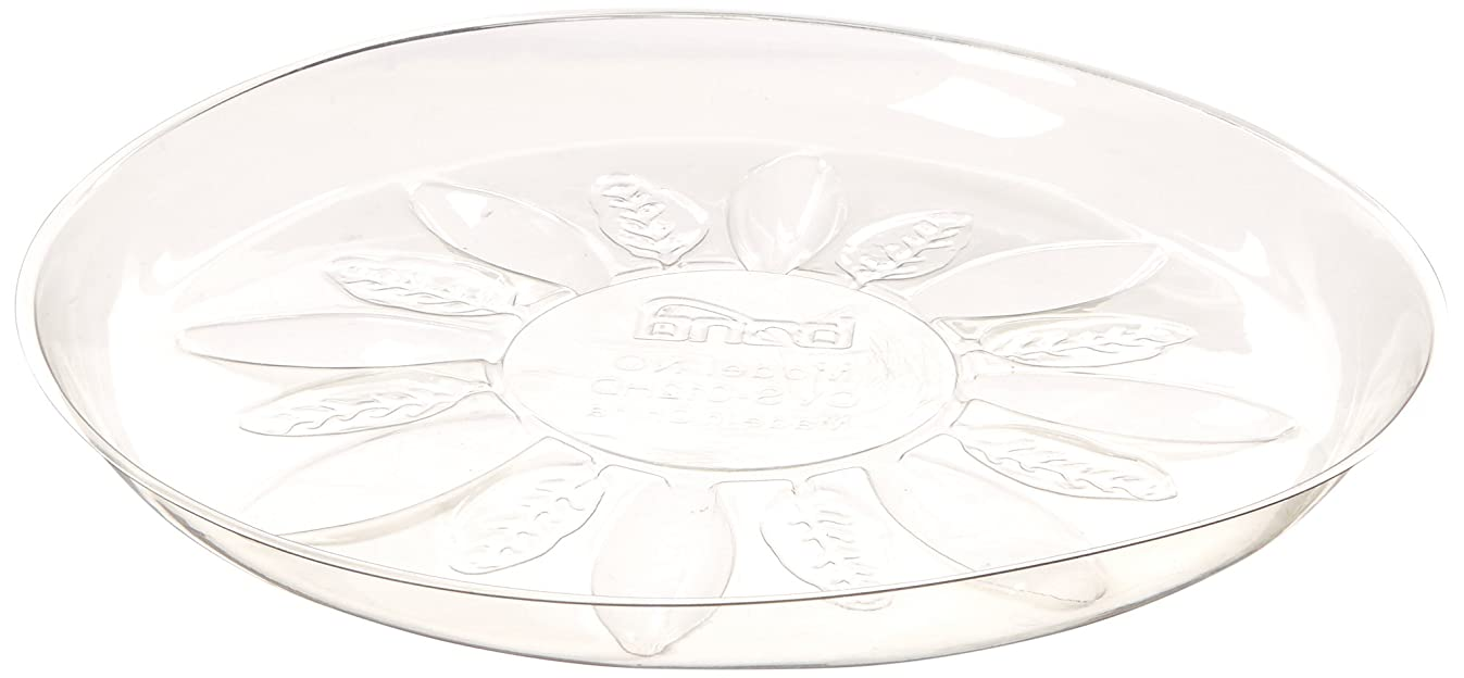 Bond Manufacturing Co CVS012HD Heavy Duty Clear Plastic Saucer 12in, 12