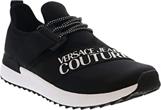 Jeans Couture Black/White Super Fashion Stretch Sneakers- for Mens