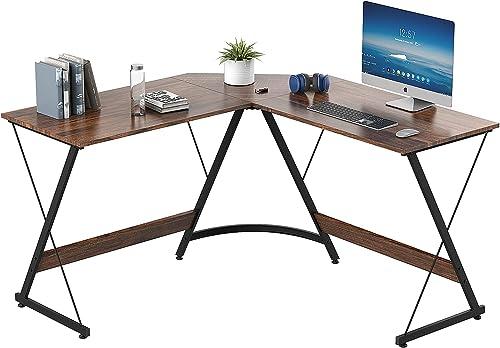 2021 Yesker L Shaped Computer Desk, Home Office Corner Gaming Desk, 51 Inch L-Shape Space-Saving discount Desk, Modern L Shaped Desk for Workstation Studying Writing, Easy online to Assemble Rustic Brown. outlet online sale