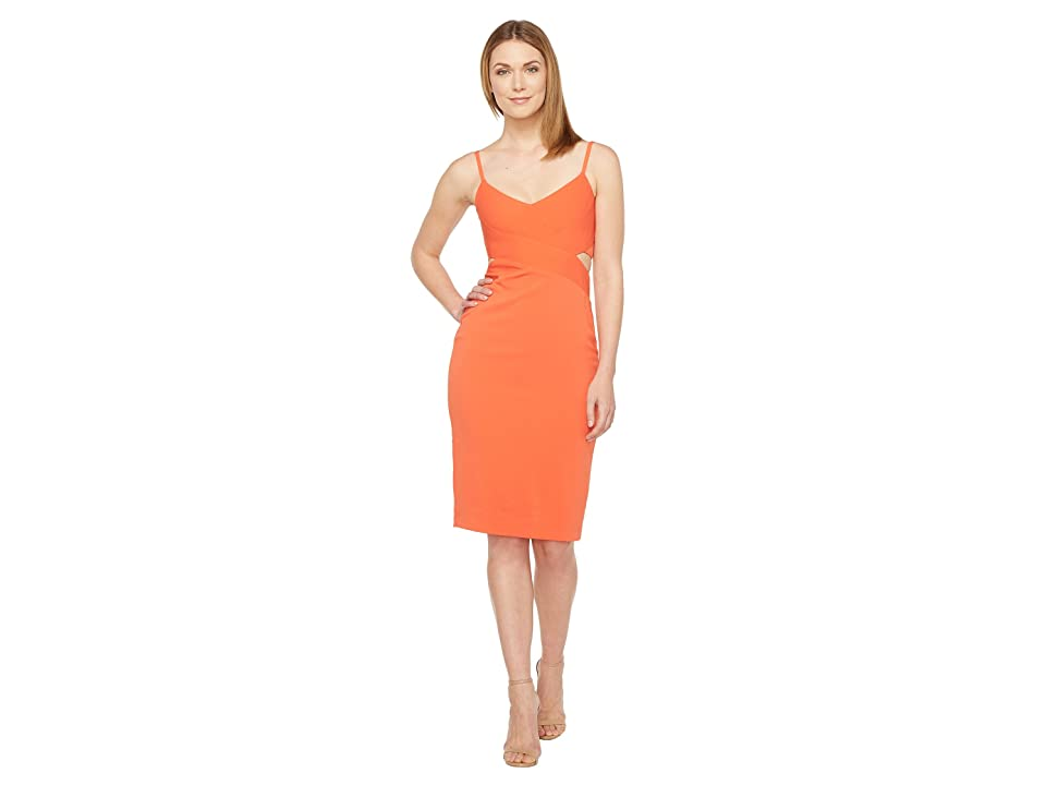 Laundry by Shelli Segal Stretch Crepe Cocktail Dress (Cherry Tomato) Women