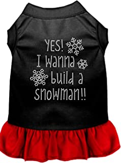 Mirage Pet Products 57-69 BKRDXXXL Yes! I want to Build a Snowman Dog Dress, 3X-Large, Black/Red
