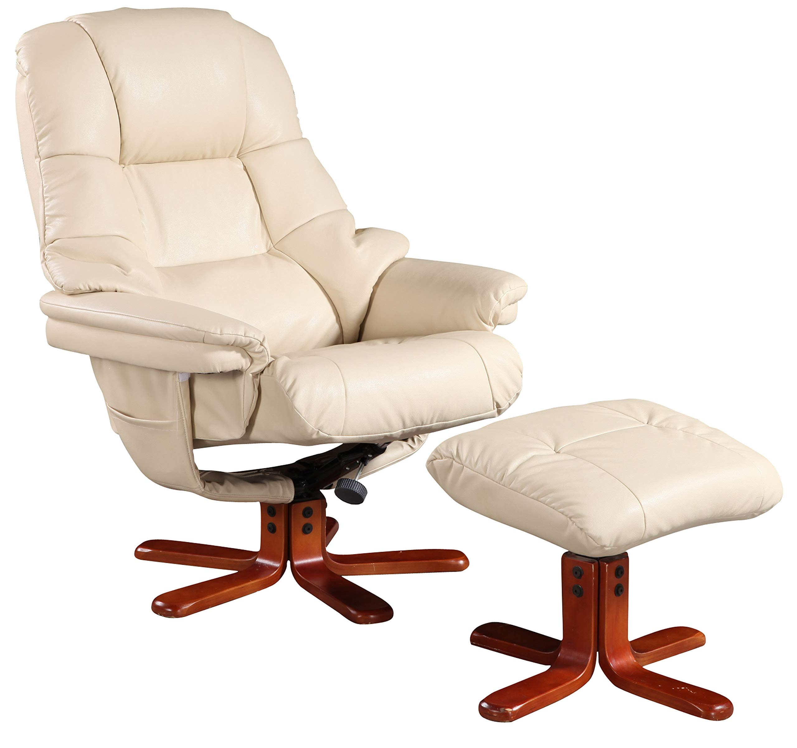 GFA Alizza Swivel Recliner Chair & Matching Footstool In