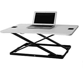 """TechOrbits Height Adjustable Single Level Standing Desk - 31"""" Wide Sit to Stand Desk Converter Fully Assembled Standing Wo..."""