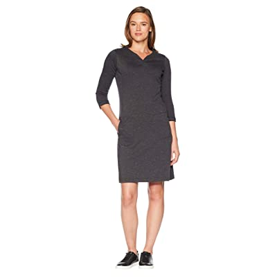 Royal Robbins Geneva Ponte Dress (Charcoal Heather) Women