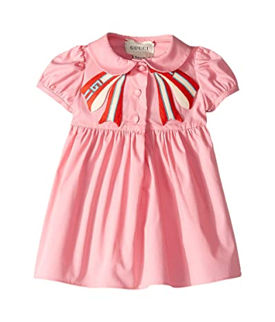 Gucci Kids Petal Bow Dress (Infant) (Petal Pink) Girl