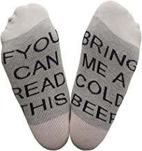 CHUN IF YOU CAN READ THIS BRING ME BEER WINE VODKA FUCK OFF FUNNY SAYING Low Cut Socks for Men
