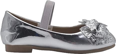 bebe Toddler Girls Ballet Flats Glitter Bow Mary Jane Ballerina Shoes