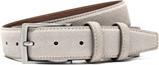 Ground Mind Extra Thickness Suede Leather Belt for Men Casual Jeans & Dress Belts 34mm Wide