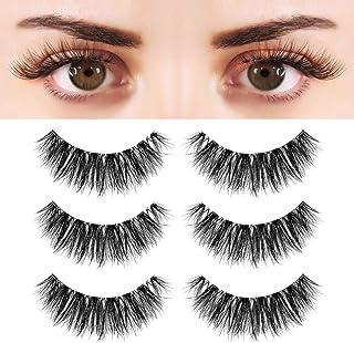 Sponsored Ad - BEPHOLAN 3 Pairs False Eyelashes Synthetic Fiber Material| 3D Mink Lashes| Cat Eyes Look| Reusable| 100% Ha...