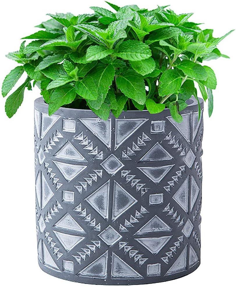 VanEnjoy 5.5 inch Cement Planter Plants Indoor Pot Long Beach Mall Conta Flower New life