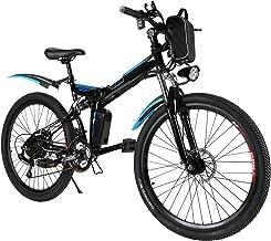 Speedrid Electric Bike 26'' Electric Folding Bikes for Adults e-bike Electric Mountain Bike with Double Shock Absorption, ...