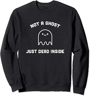 Not a Ghost Just Dead Inside, Kawaii Pastel Goth Halloween Sweatshirt