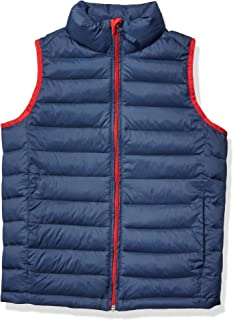 Amazon Essentials Boys Light-Weight Water-Resistant Packable Puffer Vests
