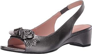 Taryn Rose Women's Slingback Heeled Sandal, Gunmetal, 5.5