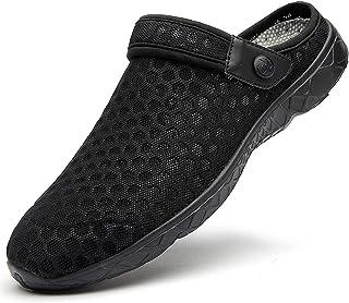 Zuecos Hombres Mujer Zapatillas de Playa Respirable de Jardin Interior Exterior Antideslizante Cómodos Sandalias Zapatos V...