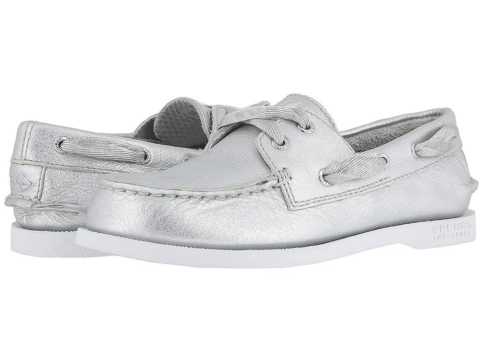 Sperry Kids Authentic Original (Little Kid/Big Kid) (Silver) Girls Shoes