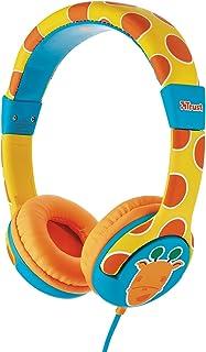 Trust Urban Spila - Auriculares para niños con limitador de volumen, amarillo