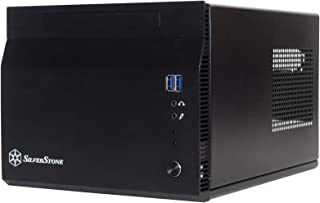 SilverStone Technology Mini-ITX Computer Case with Aluminum Front Panel in Black SST-SG06BB-LITE-USA