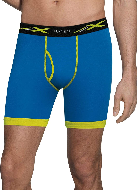 10 pair Men/'s Hanes X-Temp Boxer Briefs With Comfort Flex Waistband #MTBBC5