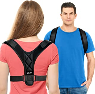 Posture Corrector for Women and Men - Upgraded Lengthened Soft Sponge Pad Adjustable Upper Back Brace for Clavicle Support and Providing Pain Relief from Neck, Back and Shoulder (Universal)
