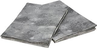 Elite Home Horizons Collection 300 Thread-Count 100-Percent Cotton Sateen Standard 2-Piece Pillow Case Set, Black