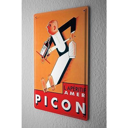 Lorenzo Wagons Vintage en M/étal T/ôle Signe Mur Fer Peinture Plaque Affiche Panneau Davertissement Caf/é Bar Pub Bi/ère Club D/écoration de La Maison